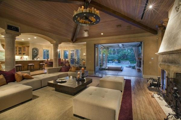 The Summerlin home has an indoor-outdoor design in the great room. COURTESY PHOTO