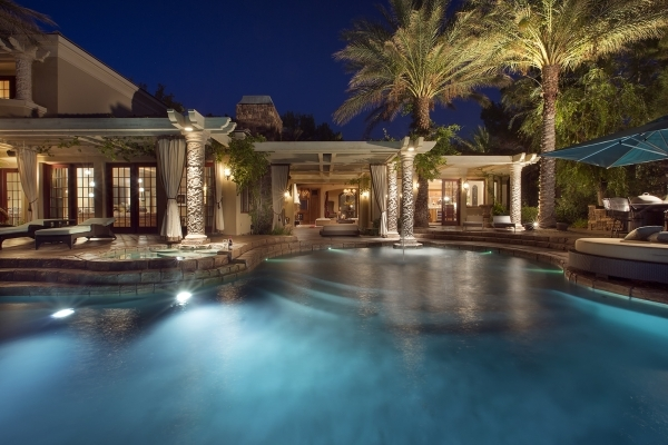 The 7,565-square-foot residence in northern Summerlin'€™s Trails village has all the extras. COURTESY PHOTO
