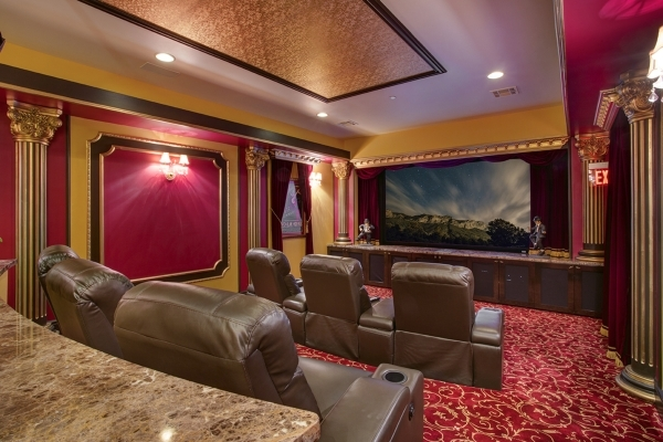 This Southern Highlands mansion has an over-the-top movie theater. COURTESY PHOTO