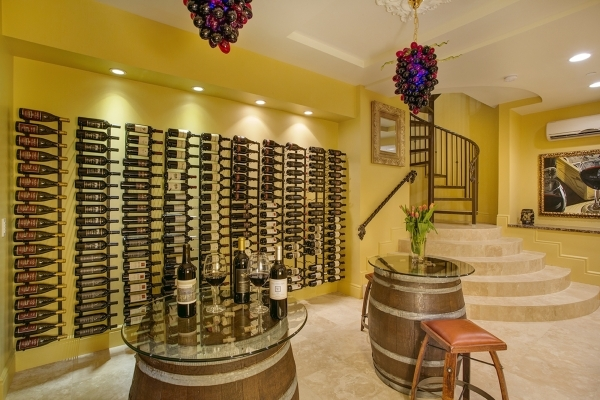 The Southern Highlands mansion showcases an extensive wine room. COURTESY PHOTO