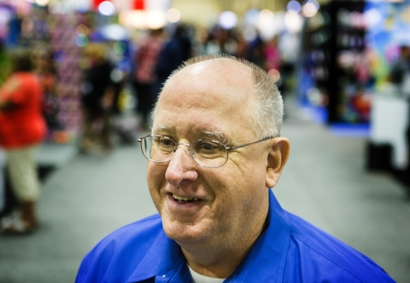 Doug Poindexter, president of World Pet Association, stands for a photo during the Super Zoo convention at the Mandalay Bay Convention Center,  3950 South Las Vegas Boulevard, on Tuesday, July 21, ...