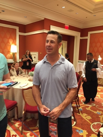 Two-time Super Bowl champion wide receiver Brandon Stokley during a break at the Fantasy Sports Combine at Wynn Las Vegas on Saturday. Ed Graney/Las Review-Journal