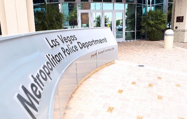 Las Vegas police headquarters is seen at 400 Martin Luther King Blvd on Monday, July 20, 2015. (Bizuayehu Tesfaye/Las Vegas Review-Journal) Follow on Twitter @bizutesfaye