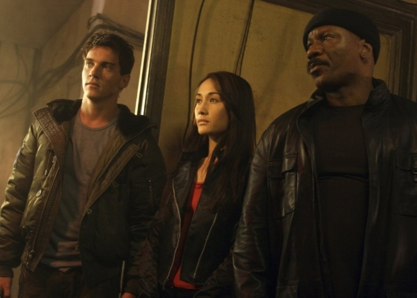 """From left, Jonathan Rhys Meyers, Maggie Q and Ving Rhames appear in a scene from """"Mission: Impossible III."""" (Courtesy Paramount Pictures)"""