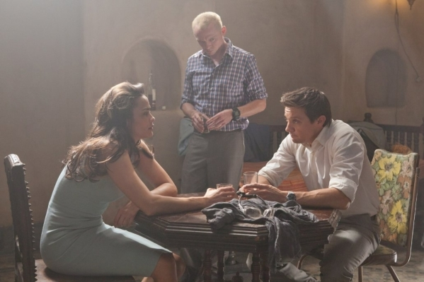 """From left, Paula Patton, Simon Pegg and Jeremy Renner appear in a scene from """"Mission: Impossible — Ghost Protocol."""" (Courtesy Paramount Pictures)"""