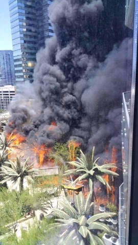 Fire at the Cosmopolitan on July 25, 2015. (Matt Smith/Facebook)
