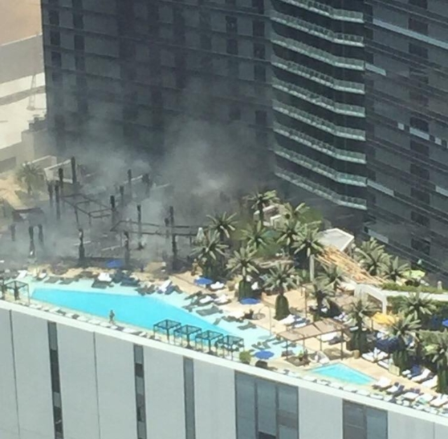 Fire at the Cosmopolitan on July 25, 2015. (Justin L. McVay/Facebook)
