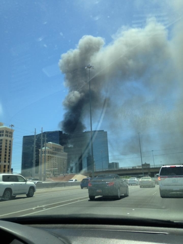 Fire at the Cosmopolitan on July 25, 2015. (Eric Joel Chavez/Facebook)