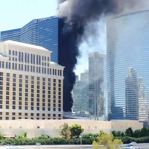 Fire at the Cosmopolitan on July 25, 2015. (Ammo Dave/Facebook)