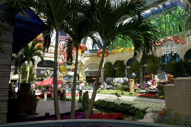 Bellagio's Conservatory & Botanical Gardens' summer display. (Glenn Pinkerton/Las Vegas News Bureau)