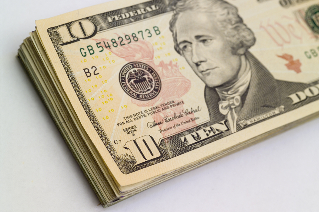 Alexander Hamilton currently graces the front of the $10 bill.