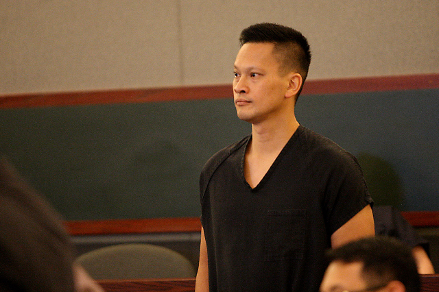 Binh Minh Chung appears in court before Judge Joseph Bonaventure on July 9, 2015. Chung is charged with nearly a dozen child pornography charges after police raided his office and home. (Michael Q ...
