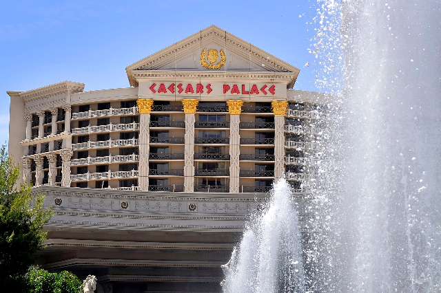 Caesars Palace hotel-casino on May 12, 2015, in Las Vegas. (David Becker/Las Vegas Review-Journal file)