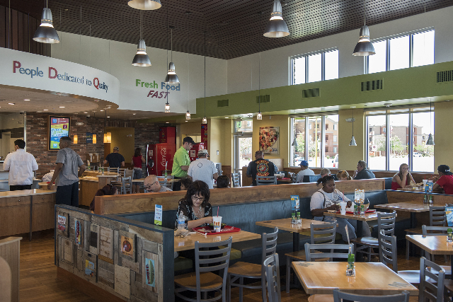 Customers dine inside PDQ restaurant at 3737 W. Craig Rd. in North Las Vegas on Friday, May 29, 2015. (Martin S. Fuentes/Las Vegas Review-Journal)