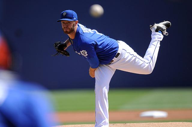 Las Vegas 51s pitcher Darin Gorski. (Josh Holmberg/Las Vegas Review Journal)