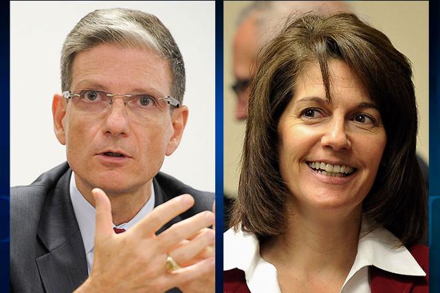 U.S. Rep. Joe Heck, R-Nev., and former Nevada attorney general Catherine Cortez Masto, a Democrat, are running for Harry Reid's U.S. Senate seat. (Las Vegas Review-Journal files)