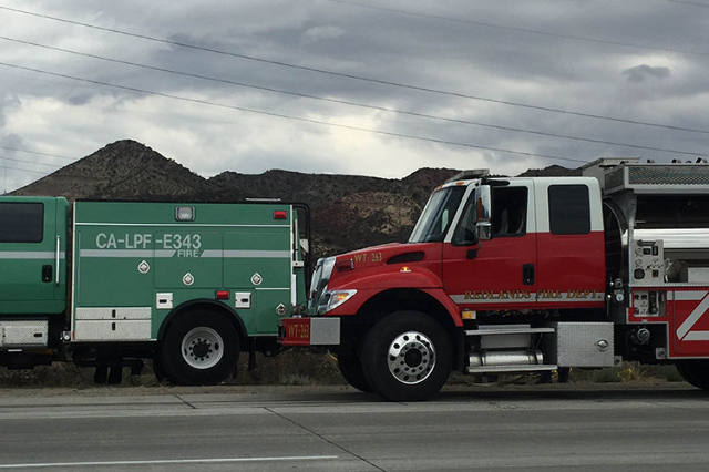 I-15 lanes reopen after 'North Fire' blaze (Ashley Casper/Las Vegas Review-Journal)