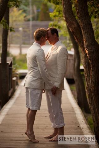 """Kevin and Karl summer wedding."" (Steven Rosen Photography/Facebook)"