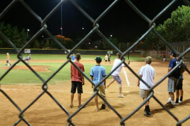 Kids chose up sides and played baseball without grown-up supervision on Field No. 2 at the Arroyo Grande Athletic Complex Monday night. They appeared to have a great time.