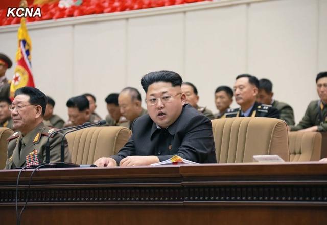 Kim Jong Un meets with battalion commanders in Pyongyang, North Korea, Nov. 3-4, 2014. (KCNA/CNN)