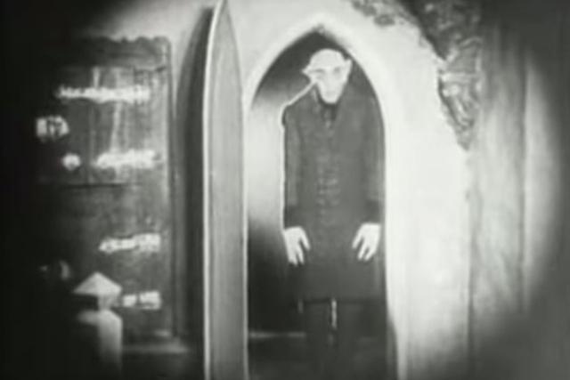 "A screengrab of the 1922 movie ""Nosferatu"" is shown. (Screengrab/MarduKsergio/YouTube)"