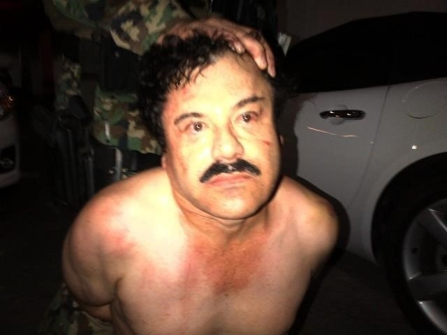 """A manhunt was launched to find Mexican drug kingpin Joaquin """"El Chapo"""" Guzman after he escaped from prison on Saturday, July 11, 2015. Guards at the Altiplano Federal Prison found that G ..."""