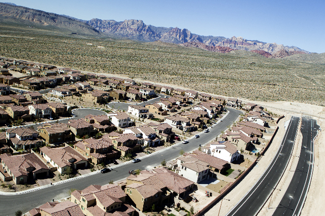 The Summerlin area's westernmost reaches have averaged 87 degrees since summer began on June 21, according to commercial Internet weather service Weather Underground. (Jeff Scheid/Las Vegas Revi ...