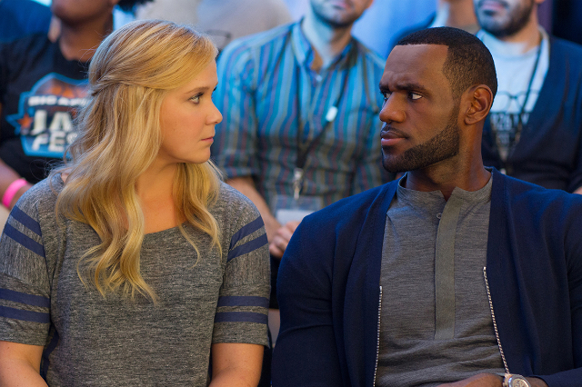 "Amy Schumer (left) and LeBron James (right) in ""Trainwreck.""(Universal Pictures)"