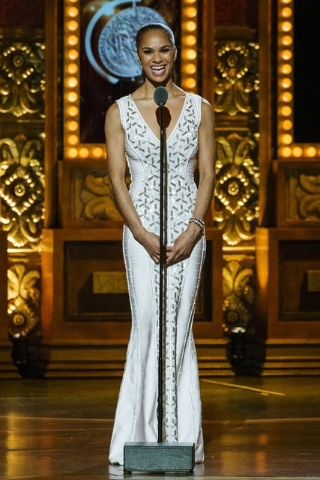 Dancer Misty Copeland presents an award during the American Theatre Wing's 69th Annual Tony Awards at the Radio City Music Hall in Manhattan, June 7, 2015. Copeland has been promoted to principal  ...