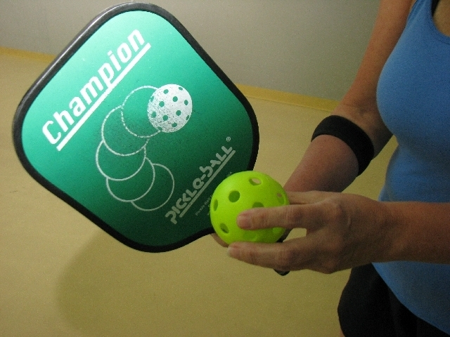 The tools of the sport for Pickleball are the pickleball paddle and ball. (F. Andrew Taylor/View file photo)