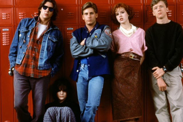 "From left, Judd Nelson, Ally Sheedy, Emilio Estevez, Molly Ringwald and Anthony Michael Hall star in ""The Breakfast Club."" (Courtesy photo)"