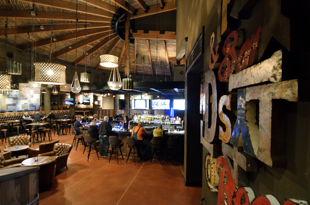 The interior of Distill at 10820 W. Charleston Blvd. in Las Vegas is shown on Thursday, Feb. 27, 2014. The team from the design firm Colours, Inc., which is celebrating its 25th anniversary, redes ...