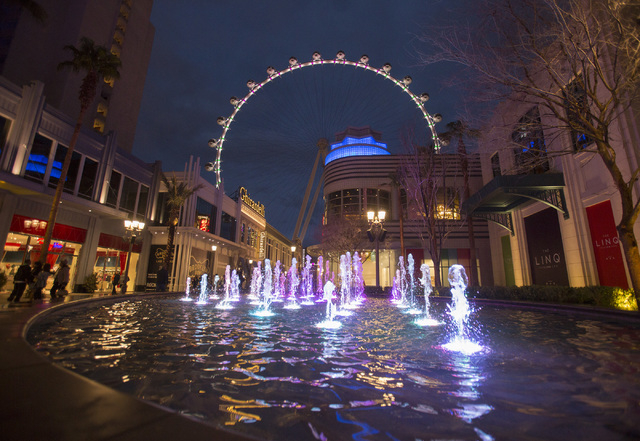 The Las Vegas High Roller as seen Friday, Feb. 28, 2014 during the inaugural lighting. (Jeff Scheid/Las Vegas Review-Journal)