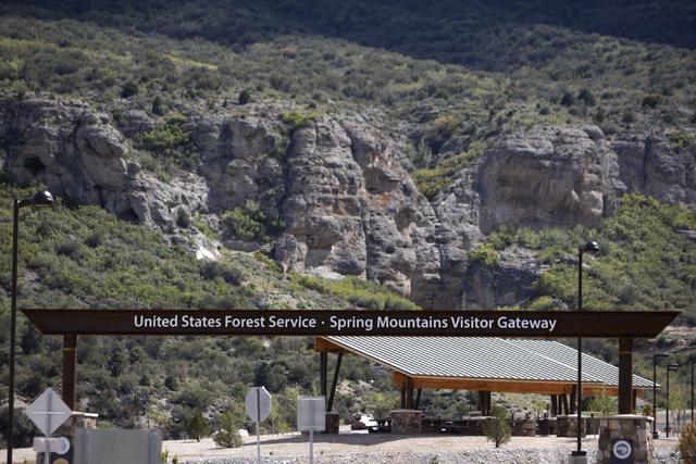 The entrance to the Spring Mountains Visitor Gateway on Kyle Canyon Road in Las Vegas is seen on Wednesday, May 27, 2015. (Erik Verduzco/Las Vegas Review-Journal) Follow Erik Verduzco on Twitter @ ...