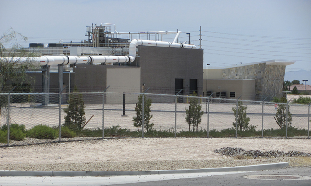 The North Las Vegas Water Reclamation Facility on Betty Lane is shown on Wednesday, July 1, 2015. (Greg Haas/Las Vegas Review-Journal)