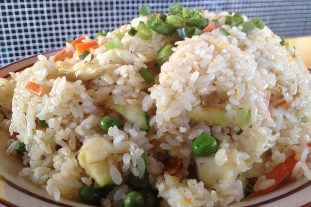 Vegetable fried rice is seen at Tokyo Cafe, 2595 E. Craig Road in North Las Vegas. (Sandy Lopez/View)