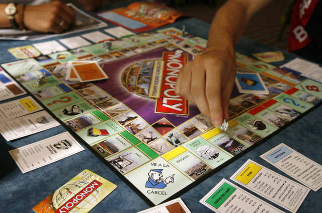A movie based on the game of Monopoly is in the works. (Reuters/Paul Hanna file