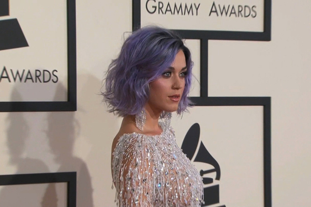 Katy Perry on the red carpet at the 57th Annual GRAMMY Awards in Los Angeles on Sunday, February 8, 2015. (CNN)