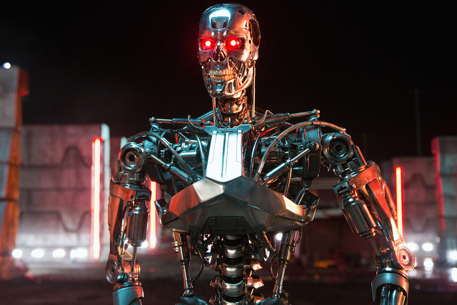 """A series T-800 is shown in a scene from """"Terminator Genisys."""" (Courtesy Paramount Pictures)"""