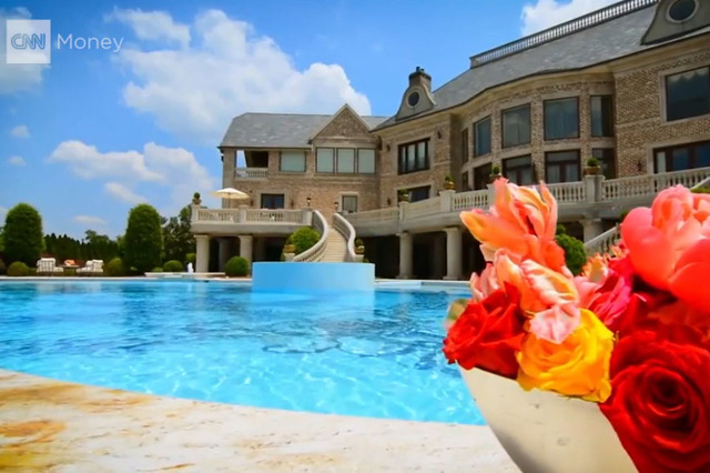 Actor Tyler Perry's Atlanta home is for sale for $25 million. (Screengrab/CNN)