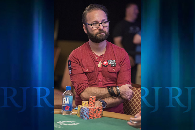 Daniel Negreanu competes during the fourth day of the $10,000 buy-in No-Limit Texas Hold 'em World Series of Poker World Championship at the Rio hotel-casino in Las Vegas on Saturday, July 1 ...