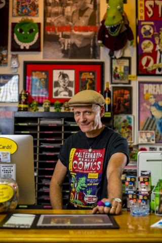 Ralph Mathieu, owner of Alternate Reality Comics, says the business is going well these days, with plenty of interest in paper and digital comics.   Joshua Dahl/Las Vegas Review-Journal