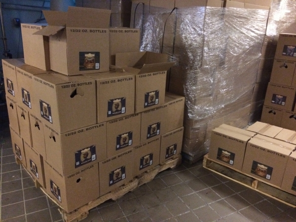 Cases of bottled beer wait July 15 to be delivered at Tenaya Creek Brewery, 3101 N. Tenaya Way. The local brewery plans to close its northwest location to move to one more than twice as big downto ...