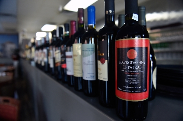 Greek wines are featured at  Mykonos Greek Cuisine in Sun City Summerlin. (David Becker/View)