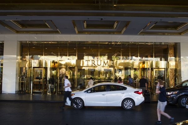 The entrance to Trump International is seen July 24 in Las Vegas. Chase Stevens/Las Vegas Review-Journal Follow Chase Stevens on Twitter