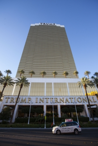 Cars pass by the Trump International Hotel in Las Vegas on Friday, July 24, 2015. (Chase Stevens/Las Vegas Review-Journal) Follow Chase Stevens on Twitter