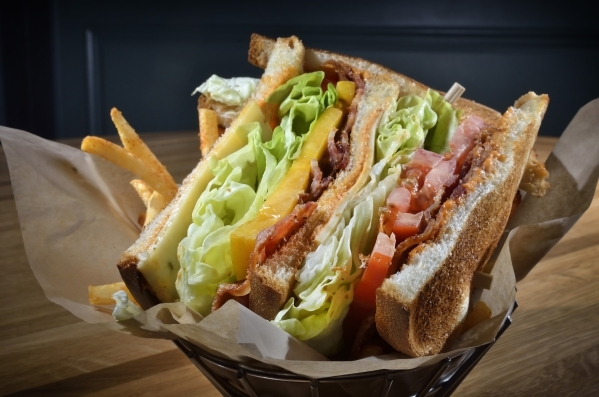 Larry's Sandwich the BLT at Pub 1842 in the MGM Grand features higher-quality, thick-cut bacon to make the sandwich more meaty. (Bill Hughes/Las Vegas Review-Journal)
