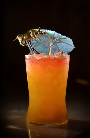 The Fo' Swizzle is shown at the Cosmopolitan hotel-casino at 3708 Las Vegas Blvd. South in Las Vegas on Wednesday, Aug. 5, 2015. (Bill Hughes/Las Vegas Review-Journal)