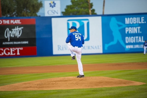 51s pitcher Tim Stauffer gained the victory Saturday over the Tacoma Rainers at Cashman Field.  (Joshua Dahl/Las Vegas Review-Journal)