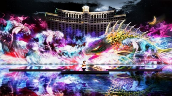"""Renowned Japanese actor Ichikawa Somegoro is set to perform a high-tech rendition of Kabuki masterpiece """"Koi Tsukami"""" Aug. 14, 15 and 16 at the Bellagio Fountains. (Special to View)"""